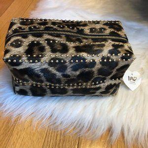 Imoshion Leopard w/ Gold Stud Detail Makeup Bag